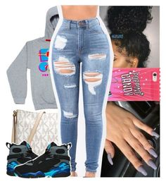 """""""this okay."""" by lamamig ❤ liked on Polyvore featuring Kolor, Forever 21 and MICHAEL Michael Kors Cute Swag Outfits, Dope Outfits, Winter Outfits, Casual Outfits, Gray Outfits, Concert Outfits, School Outfits, Teen Fashion, Fashion Outfits"""