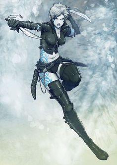 Female Air Genasi Barbarian, Bard, Cleric, Fighter, Ranger, Rogue