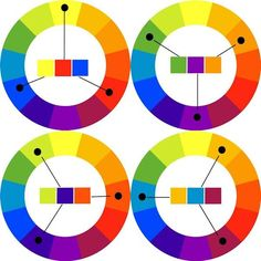 Triadic Color Scheme on 12-color wheels : click through for some basic color theory, folks!