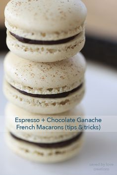 How to Make French Macarons Recipe Tips and Tricks Swiss Meringue Method French Macarons Recipe, Macaron Recipe, Chocolate Espresso, Chocolate Ganache, Recipe Tips, Recipes, Macaron Flavors, Freeze Dried Fruit, Espresso Powder
