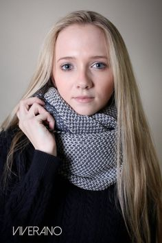 ORGANIC Cotton Knit Scarf, infinity scarf, Two Color, chunky, neck warmer, eternity scarf, vegan, winter cowl, holiday gift ideas