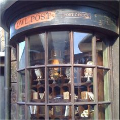 Owl Post Office at the Wizarding World of Harry Potter.  This window display is fantastic.
