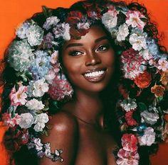 You are not built to shrink down to less, but To blossom into more. - Oprah Inspo: Art: Photographer: Words picked from Black Girl Magic, Black Girls, Black Women, Dark Skin Beauty, Black Beauty, Female Models, Women Models, African Beauty, Flower Power