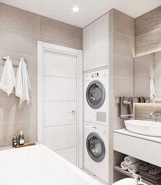 25 most popular basement bathroom remodel for small space 00020 - Bathroom Ideas Laundry Room Bathroom, Bathroom Plans, Laundry Room Design, Basement Bathroom, White Bathroom, Small Bathroom, Master Bathrooms, Bathroom Ideas, Bathroom Organization