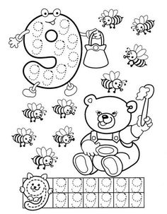 Numbers handwriting sheets for kids Preschool Printables, Preschool Lessons, Preschool Worksheets, Kindergarten Math, Teaching Math, Learning Activities, Preschool Activities, Math For Kids, Fun Math
