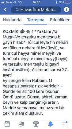Kozmik şifre Pray, Islamic