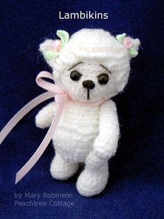 Miniature Lamb Thread Crochet Pattern - Instant Download