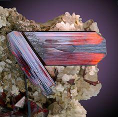 Brookite, Quartz, Albite ~ Kharan, Kharan District, Balochistan (Baluchistan), Pakistan Fine brookite crystals in association with quartz crystals. Mario Miglioli's Photo