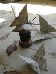 Make art with books. Awesome.    DIY Book Page Origami Butterfly. Tutorial from Todolwen here.