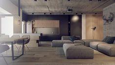 #DAarch #interior #design #art #architecture #modernarchitecture #loft #concrete #wood #metal by da_architects