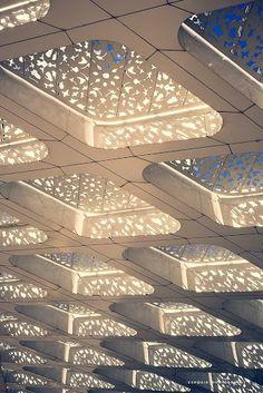 Marrakesh airport, fabulous architecture detail