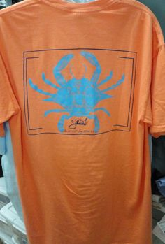 shoals Orange Tshirt wih Crab