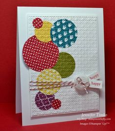 SCIC54 - Summer circles by jentimko - Cards and Paper Crafts at Splitcoaststampers