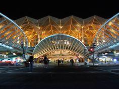 Gare do Oriente, Lisbonne, Santiago CALATRAVA