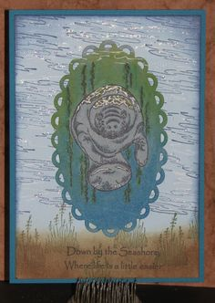 Manatee Card - Just For Fun Rubber Stamps