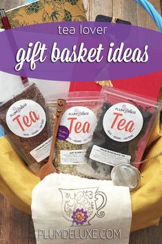 These tea lover gift basket ideas are a great way to celebrate someone special. Tea Gift Baskets, Gift Of Time, Tea Gifts, Appreciation Gifts, Drinking Tea, Basket Ideas, Gift For Lover, Cool Gifts, Gift Ideas