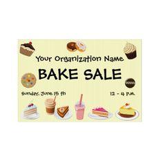 Mrs Davis' Yard Sale Bake Sale Yard Sign