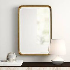 Lugo Modern and Contemporary Beveled Accent Mirror Eclectic Wall Mirrors, Modern Bathroom Mirrors, Modern Contemporary Bathrooms, Wall Mirrors Set, Contemporary Wall Mirrors, Mid Century Modern Bathroom, Wall Mounted Mirror, Mirror Set, Frames On Wall