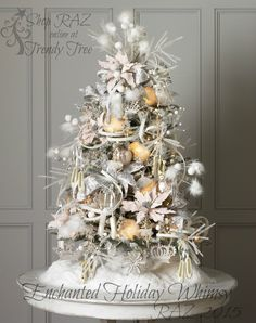New from RAZ! Enchanted Holiday Whimsy tree. Visit us at http://www.trendytree.com to add items from this beautiful collection to your Wish List. Products arriving this summer!