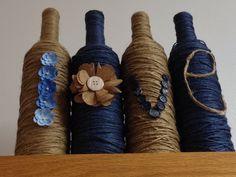 LOVE Wine Bottles. Upcycled