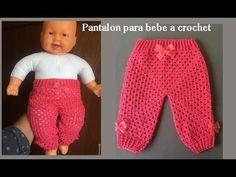 Pantalón para bebe a crochet todas las tallas ( recién nacido) - YouTube