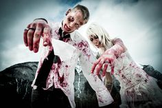 Zombies in Love Engagement Shoot, now the photo ideas are complete