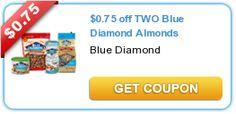 $0.75 off TWO Blue Diamond Almonds