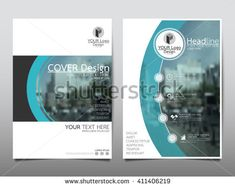Blue curve technology annual report brochure flyer design template vector, Leaflet cover presentation abstract flat background, layout in A4 size