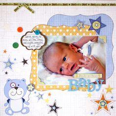 Cute baby boy layout!