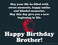 160 Birthday Wishes For Brother - Happy Birthday Brother Happy Birthday Brother From Sister, Birthday Message For Brother, Happy Birthday Quotes For Friends, Birthday Wishes For Brother, Birthday Wishes For Sister, Happy Birthday Fun, Funny Birthday, Birthday Blessings, Happy Birthday Bhai Quotes