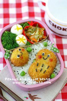 Potato croquets bento