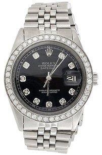 Rolex Mens,Stainless,Steel,Rolex,Datejust,Jubilee,Diamond,Watch,Black,Dial,2.20,Ct.