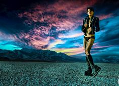 A #throwback to #sunset at #burningman in 2011 with @shannonshiang and #bodypaint by @hanshaveron  and jacket designed by our friend Adam Pollina. #cloud #skyporn @burnergirls #burnergirls