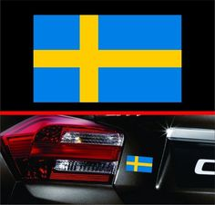 "4"" Swedish Flag Vinyl Decal Bumper Sticker Sweden Self Adhesive for Volvo & Saab #3M"