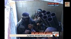 In footage captured by al-Mayadeen, apparently during the current truce, Hamas Izz ad-Din al-Qassam Brigades fighters are seen preparing rockets to launch against Israel in a tunnel underneath the Gaza Strip, August 2014. (screen capture, YouTube)
