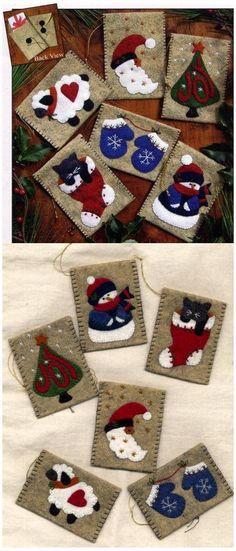 Wool Felt Christmas Patterns | Felt and Wool Felt Kits - Applique - Erica's Craft & Sewing Center