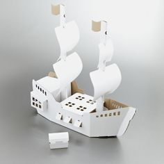 Calafant Cardboard Pirate Ship Making Kit | Calafant Cardboard Model Kits | UK's…