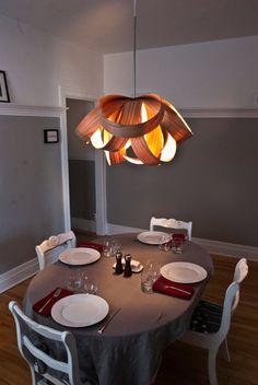 Large Veneer Pendant Lamp by PiermariniDS on Etsy