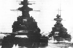 "Battleship Scharnhorst and heavy cruiser Prinz Eugen photographed during Operation Cerberus, also known as ""The Channel Dash"". In February 1942, a German Navy squadron under the command of Admiral Otto Ciliax sailed from Brest, in France, hoping to reach the safety of German ports. Unbelievably, in broad daylight the squadron sailed the English Channel, suffering very little damage from the late and disordered British reaction."