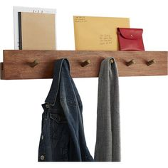 This is the elegant, everyday, entryway solution you& been waiting for. Handcrafted of solid, sustainable acacia wood, rack hides a secret top channel to discretely store mail and magazines. Modern Wall Decor, Unique Home Decor, Kai, Standing Coat Rack, Vintage Umbrella, Wall Mounted Coat Rack, Mounted Shelves, Hanging Storage, Storage Boxes