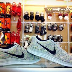 NEW Arrival!!! Men's and Women's Nike Flyknit Lunar1+ running shoes in Tuscaloosa exclusively at Wagner's RunWalk.  205-752-7463  http://facebook.com/wagnersrunwalk
