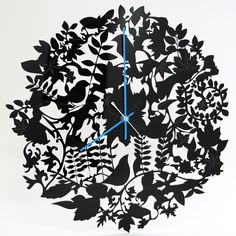 Inspired by nature. The more you look, the more you see. - Mimi & Eve  Made from high-quality cast acrylic. Pictured: black acrylic clock face with bright blue acrylic hands.  Diameter: approx. 36cm  Please note that clocks are made to order and can take up to 5 working days to dispatch.  We have Acrylic in Black, White, Clear, Mirror, Dark Blue, Bright Blue, Pink, Yellow, Red, and Dark Grey. If you are interested in creating this product in any of these colours, but they are not listed as…