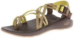 Strappy nylon sandal featuring adjustable buckle closure