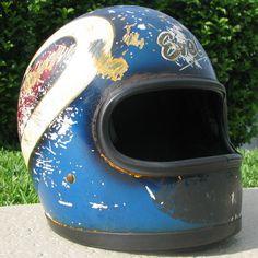 Original Caesars Palace Jump Helmet Vintage Helmet, Vintage Racing, Racing Helmets, Motorcycle Helmets, Evel Knievel Helmet, Johnny Be Good, Old Vegas, Custom Helmets, Sports Helmet