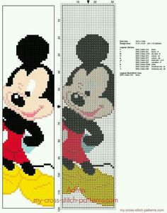 Disney Mickey Mouse children bookmark free cross stitch pattern Disney Mickey Mouse children bookmark free cross stitch pattern This image. Disney Mickey Mouse, Mickey E Minie, Cross Stitch Bookmarks, Cross Stitch Books, Cross Stitch Charts, Cross Stitching, Cross Stitch Embroidery, Embroidery Patterns, Hand Embroidery