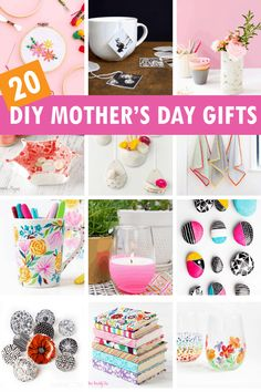 A roundup of 20 handmade Mother's Day gifts ideas from adults -- DIY gift ideas for mom from grown-up kids (or tweens and teens)