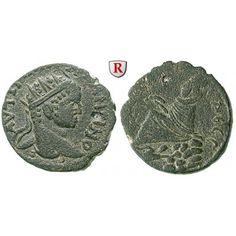 Römische Provinzialprägungen, Mesopotamien, Edessa, Elagabal, Bronze, ss+: Mesopotamien, Edessa. Bronze 25 mm. Kopf r. mit… #coins