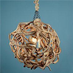 De Vine Wood Ball Chandelier eclectic chandeliers