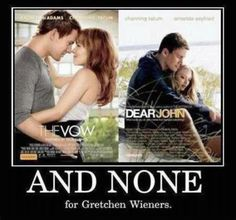 One for Rachel, One for Amanda, None for Gretchen Weiners, & Four for you Glen Coco, you go Glen Coco.