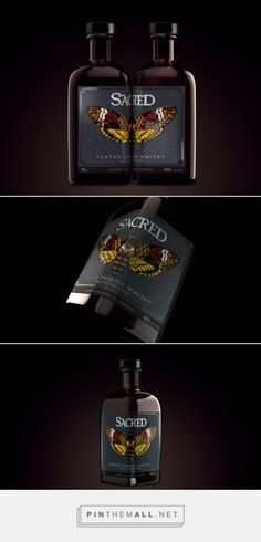 Sacred Spirits English Peated Whisky         on          Packaging of the World - Creative Package Design Gallery - created via https://pinthemall.net